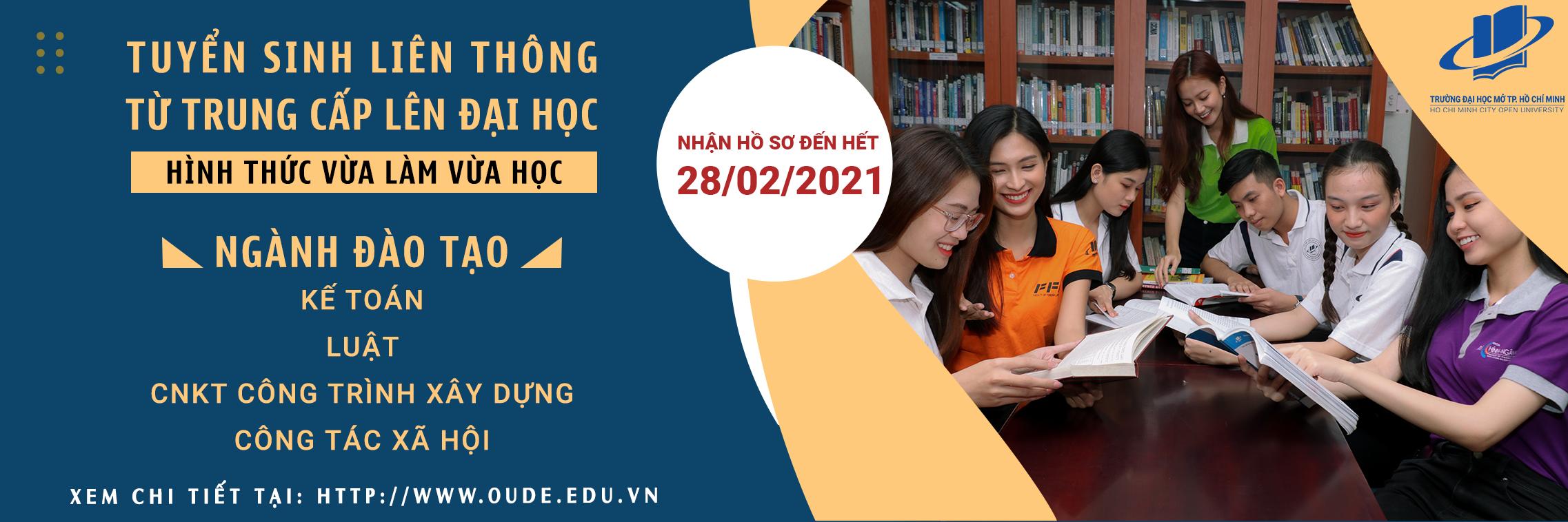 Vừa làm vừa học - liên thông từ Trung cấp lên Đại học - 2021-01