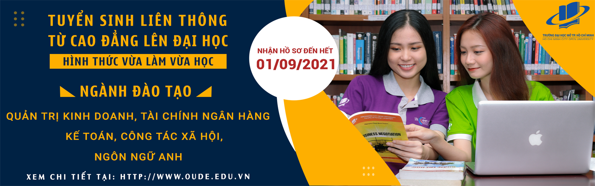 Vừa làm vừa học - liên thông từ Cao đẳng lên Đại học - 2021-03