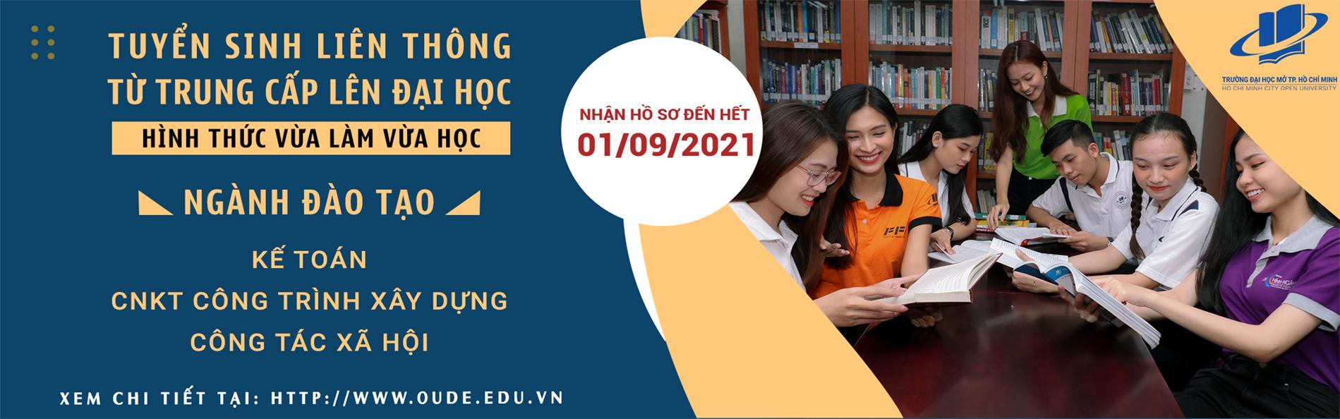 Vừa làm vừa học - liên thông từ Trung cấp lên Đại học - 2021-03